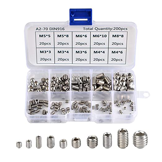 Yudesun Grub Stainless Socket Screws Fasteners M6 M8 Screw 304 Stainless Steel Hex Socket Set Cup Point Set Screw