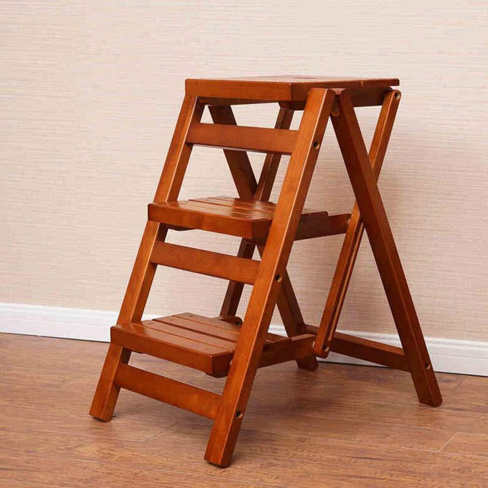JIEER-C Fritid kontorsstol stegpall ihopfällbar 3 lager trappor bibliotek trappstege kök kontor hållbar stark 1