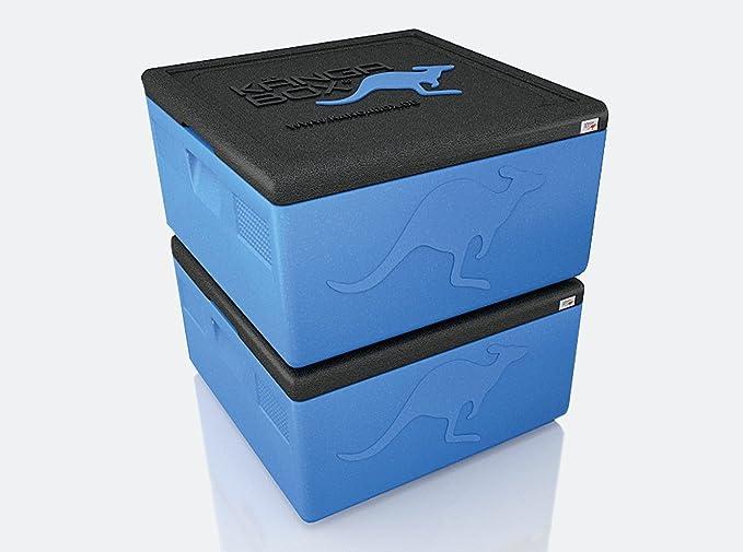 K/ÄNGABOX Contenitore Isotermico per Pizza Quadrato EASY PIZZA Box Termico Isolante Professionale Capacit/à: 32L Rosso Misure Interne: 350x350x265 mm