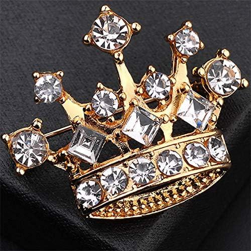 Jounkal Crown Brooch Pin Rhinestne Corsage Scarf Clips Bridal