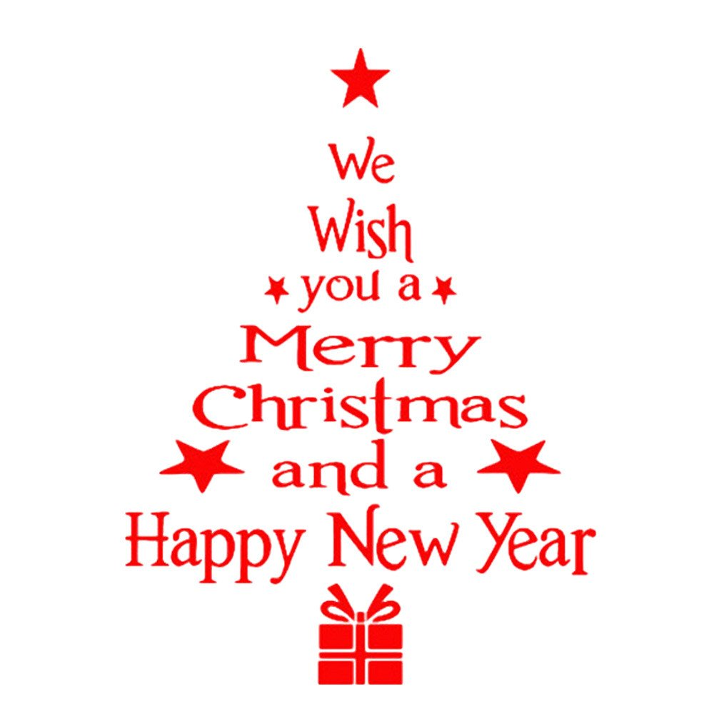 Fossrn Letra del árbol de Navidad Pegatinas Pared Vinilo ...