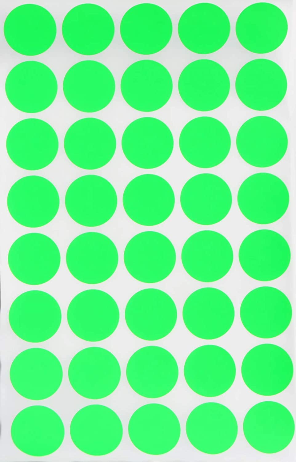 Amazon com round label colored dot stickers 19mm 3 4 inch neon green 280 pack by royal green office products