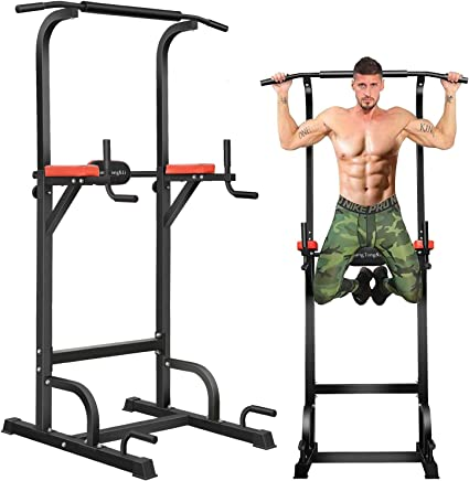 Amazon.com : BangTong&Li Power Tower Workout Pull Up & Dip Station Adjustable Multi-Function Home Gym Fitness Equipment : Sports & Outdoors