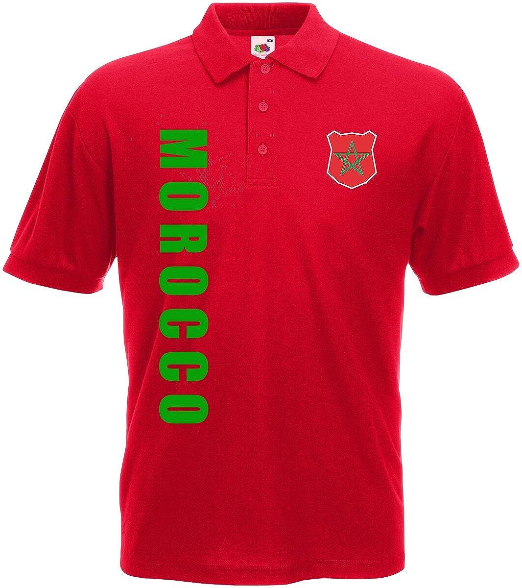 Marokko Morocco Polo-Shirt Trikot Wunschname Wunschnummer