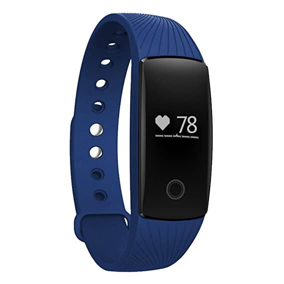 Amazon.com : NASKY Bluetooth 4.0 Wireless Activity Smart Watch Heart Rate Monitor Wristband Fitness Tracker (Blue) : Sports & Outdoors