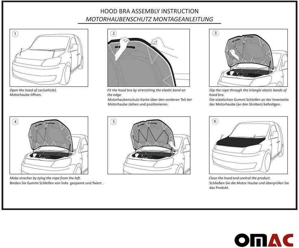 Haubenbra Bonnet Bra f/ür T6 Transporter Multivan Caravelle VI AB 2015 Schutzmaske Carbon Optik Steinschlagschutzmaske