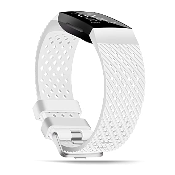 X4-Tech Compatible with Fitbit Charge 3 Bands Small Large for Women Men,  Choose Color Soft Silicone Sports Replacement Accessory Band for Smartwatch