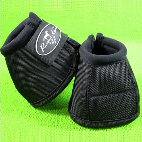 Purpose Saddle Cover - Professionals Choice Equine Ballistic Hoof Overreach Bell Boot, Pair (2X-Large, Black)