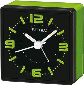 SEIKO QHE091M - Reloj Despertador de Mesa (analógico), Color Verde ...