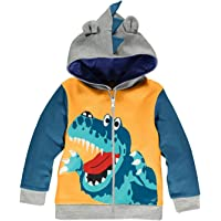 Boys Hoodies Dinosaur Toddler Boys Jacket Zipper Spring Fall Hoodie Kids Sweatshirts Long Sleeve Hooded Shirts 2-7 Years