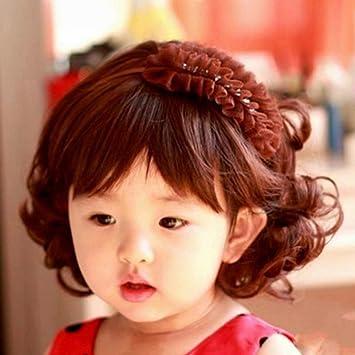 Amazon Com Children Wig Lovely Adorable Boys Girls Hair Wig Full