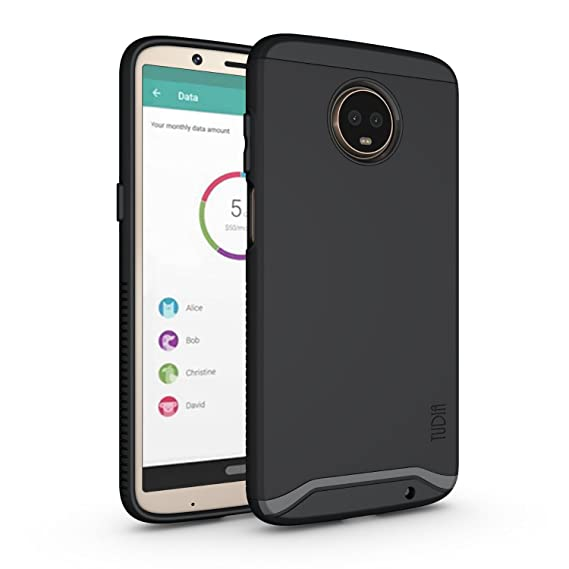 new product b50c5 6b0d4 Moto Z3 Play Case, Moto Z3 Case, TUDIA Slim-Fit Heavy Duty [Merge] Extreme  Protection/Rugged but Slim Dual Layer Case for Motorola Moto Z3 Play (Matte  ...