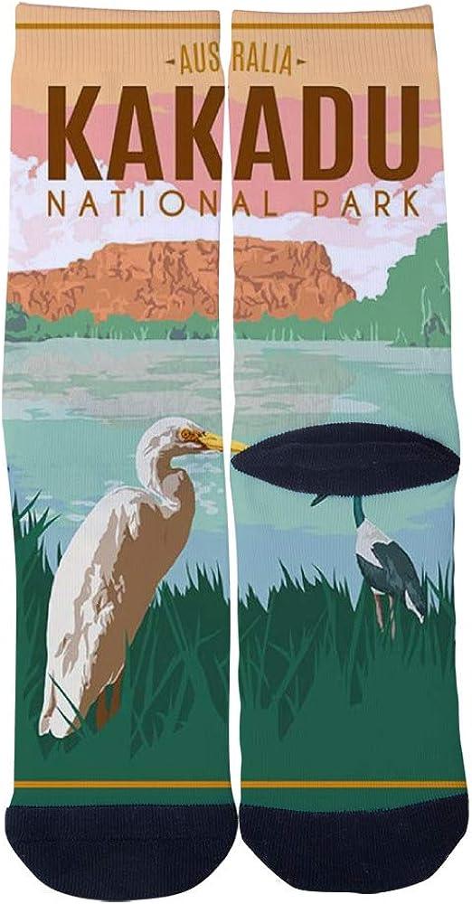 Kakadu National Park Australia Vintage Travel Poster Socks Mens Womens Casual Socks Custom Creative Crew Socks