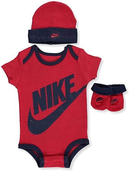 Nike bebé niños 3 Piezas Canastilla Set, Rojo (Gym Red): Amazon ...