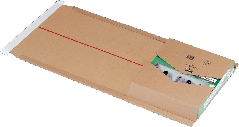 Nips 145625114 Easy Pack 62-25 Estuches de cartón para envío, 257 x 325 x hasta 80 mm, color marrón