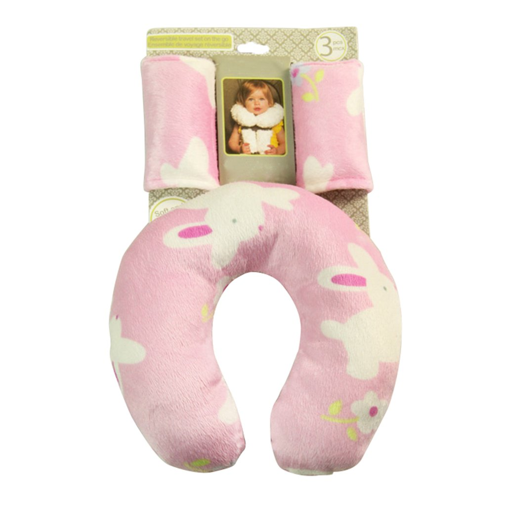 U shape Travel pillow Headrest baby neck protection pillow car safty baby seat back cushion + Safety belt cover Vine Trading Co. Ltd E161020UF01013V