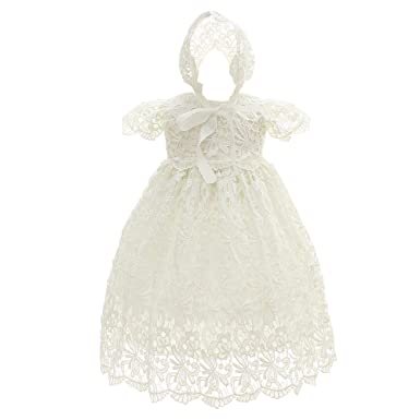 b278a59dbeb Romping House Newborn Baby Girls Floral Lace Cap Sleeve Christening Gown  Baptism Dress Formal Dress Outfit