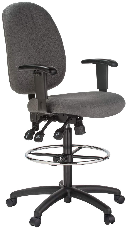 Harwick Extra Tall Ergonomic Drafting Chair Gray/Black