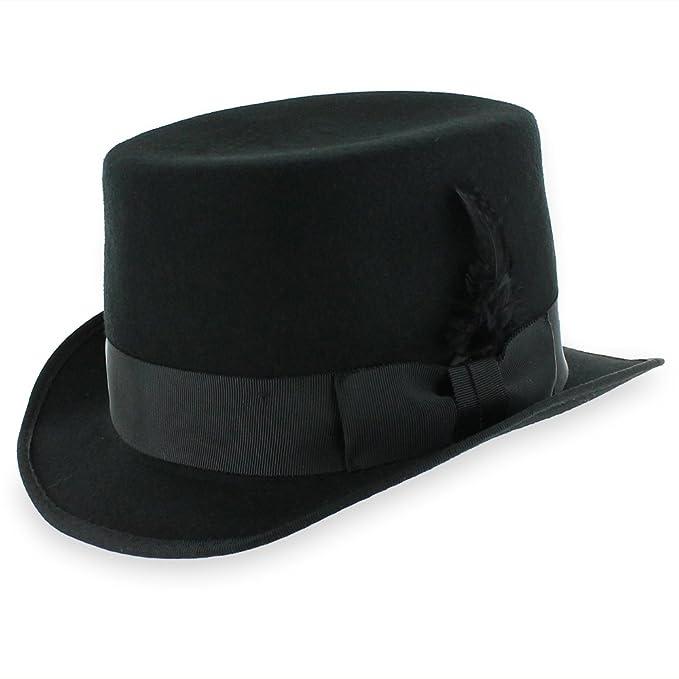 7a1bb9943118f4 Belfry Slash Crushable Soft Men's Wool Felt Top Hat in Black (Small)