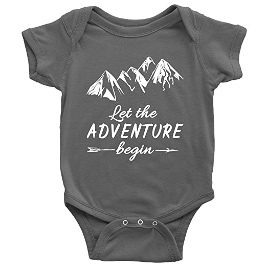 7e9ae45f0c6d8 Let The Adventure Begin Unisex Baby Onesie Bodysuit Infant Romper