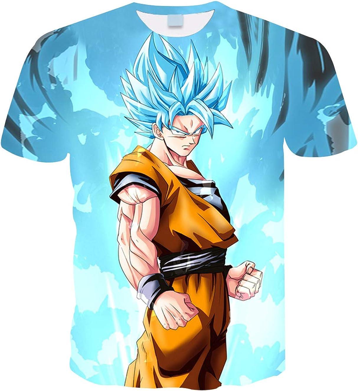 Camiseta Dragon Ball Niño 3D Impresión Hombres Mujer Camisetas y Camisas Unisex Deportivas Camisetas de Manga Corta Dibujos Animados de Fans Streetwear T Shirt Camisetas de Verano