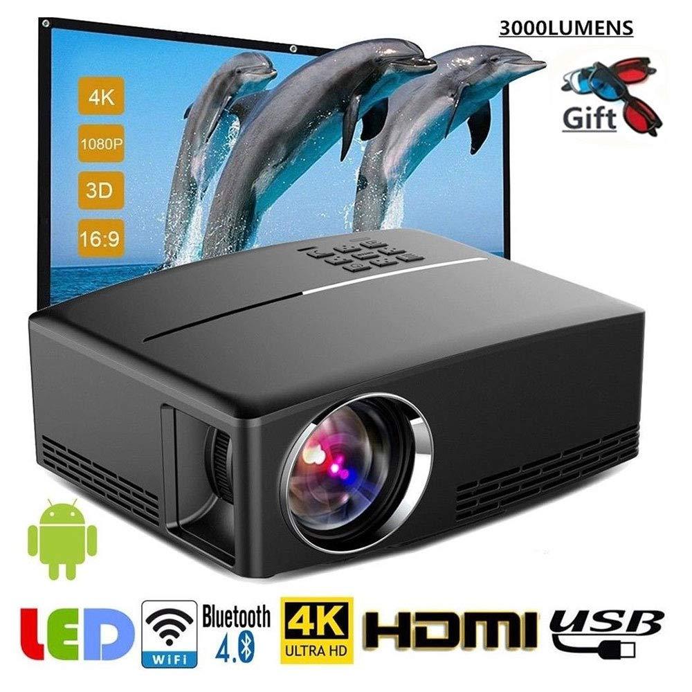 TLgf Proyector-Mini proyector de vídeo portátil-1800 lúmenes LED ...