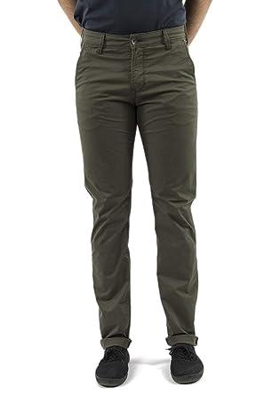 6b8486ff2db Lee Cooper Pantalons garven 7336 Garment Dye Leg 34 Vert  Amazon.fr ...