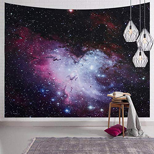 (SYNEE Galaxy Stars Wall Tapestry Outer Space and Starry Night Sky Tapestry 3D Universe Tapestry Milky Way Psychedelic Art Decor Wall Hanging for Living Room Bedroom Dorm (L 59.1