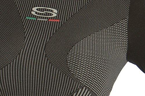 Camiseta térmica negra talla S de running, esquí, ciclismo, senderismo o correr, para mujer. Acabado en manga larga. Ropa técnica deportiva.