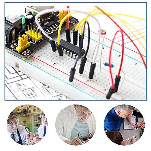 KEYESTUDIO Arduino Project Kit/Breadboard 830+Breadboard Power Supply+65 Pcs Jumper Wires+140 Pcs Pre-formed Jumper Wire Kit by KEYESTUDIO (Image #4)