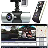 Indigi HD Car DVR Dual Camera Lens Dash Cam Night Vision GPS Logger G-Sensor Time Stamp
