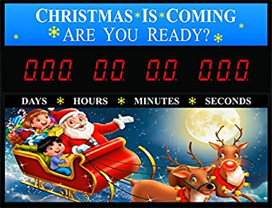 countdown today cd chris2 christmas countdown clock 23 x 17