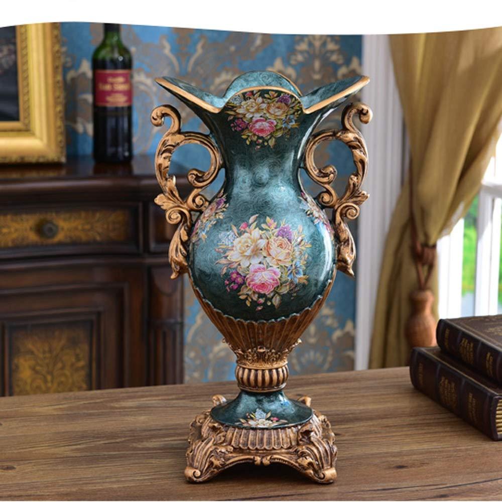 花瓶用花緑植物結婚式植木鉢装飾ホームオフィスデスク花瓶花バスケットフロア花瓶農村スタイル樹脂 (色 : 青) B07RL6YYS2 青