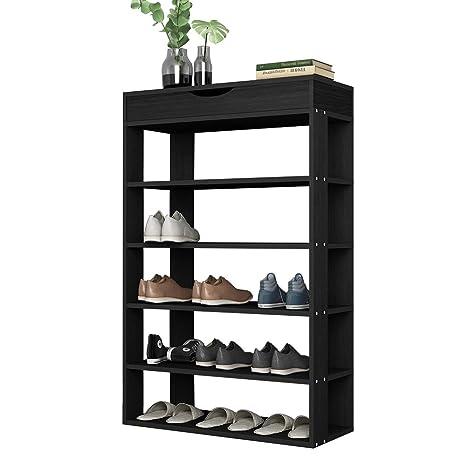sogesfurniture DIY Zapatero de Madera con 5 Niveles Estantería Zapatero para hasta 20 Zapatos, 75 x 24 x 94 cm, Organizador de Almacenamiento de ...