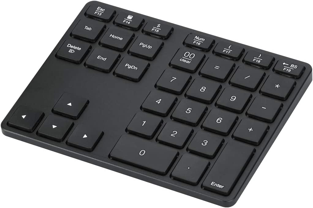 Protable Bluetooth Number Pad 35-Keys Rechargeable Aluminum Ultra-Slim Wireless Numeric Keypad Compatible for MacBook/Air/Pro & Windows/PC/Laptop Accounting Data Entry excel Spreadsheets and More