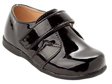 ef020b2c9a8d Infant Boys Wedding Christening Communion Patent Page Boy Shoes Black Size  4  Amazon.co.uk  Shoes   Bags