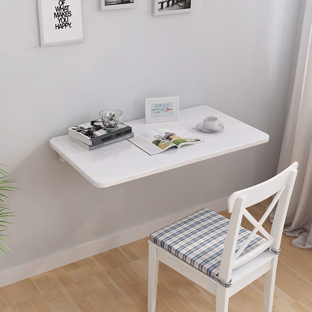 XCJ Vit väggmonterad drop-bladbord, fällbart kök och matbord skrivbord, barn laptopbord för arbetsrum, sovrum, badrum eller balkong, 70 x 40 cm 80 * 50cm