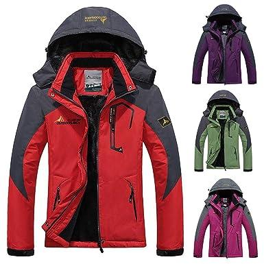 Women s Mountain Waterproof Ski Jacket Fleece Windproof Rain Jacket Blue 95c348163