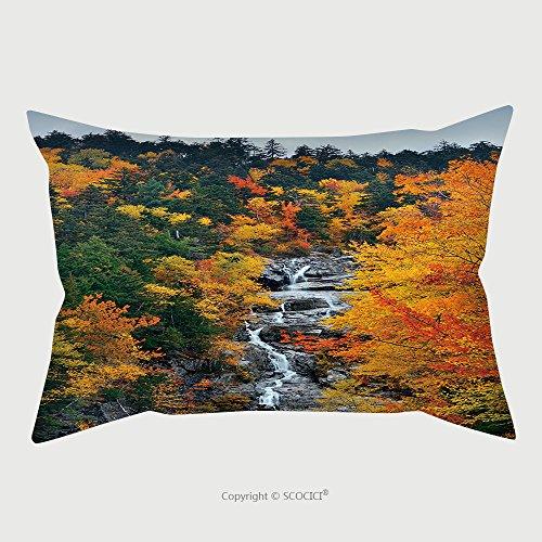 Custom Microfiber Pillowcase Protector Colorful Autumn Creek_589541044 Pillow Case Covers Decorative