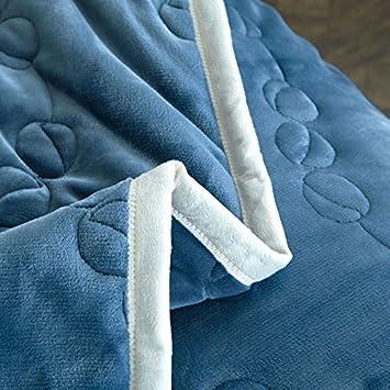 Azul 150Cmx200Cm WDZA Manta Doble De Invierno C/álido Acolchado Acolchados