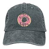 LETI LISW DoughnutVintageDenim Cap Adult Unisex Adjustable Hat