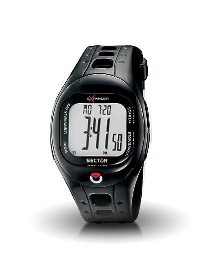 Sector R3251274015 - Reloj digital unisex de cuarzo con correa de goma negra: Amazon.es: Relojes