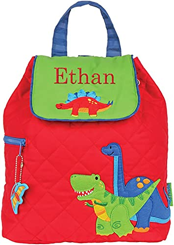 GiftsForYouNow Quilted Dinosaur Personalized Backpack
