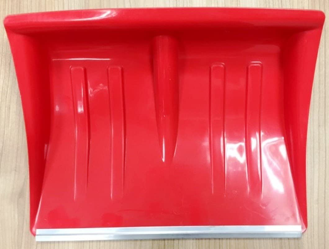 Holz-Stiel mit D-Griff 40cm Schneeschaufel rot mit Alukante 130 cm Hillfield/® Kunststoff 2 St/ück