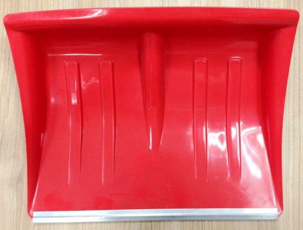 Hillfield® Kunststoff - Schneeschaufel rot mit Alukante 130 cm / 40cm / Holz-Stiel mit D-Griff (2 Stück) hillfield®