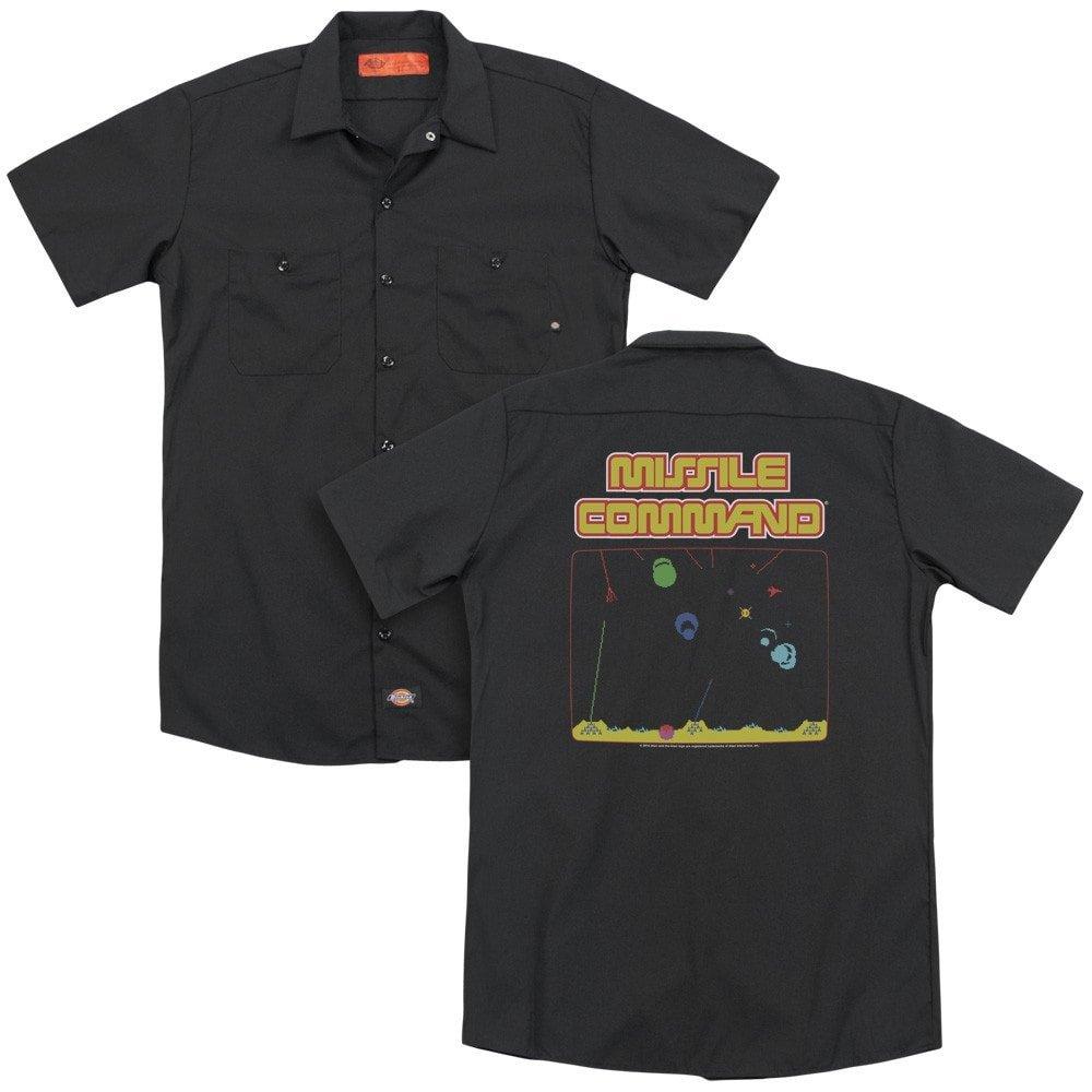 Atari Missle Screen Adult Work Shirt
