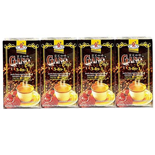 4 Boxes GanoCafe 3 In 1 Ganoderma Gourmet Coffee (20 Sachets Per Box)