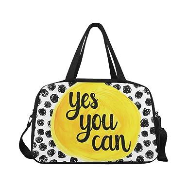 InterestPrint Inspirational Quotes Polka Dot Duffel Bag Travel Tote Bag  Handbag Luggage closer at 897ed 4d923 ... edbf5b45a1f