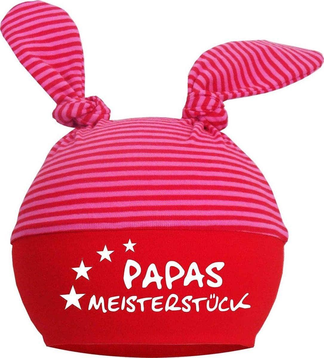 KLEINER FRATZ 2-Zipfel M/ütze Baby Kinder Jungen M/ädchen Babym/ütze Hat Papas Meisterst/ück//FAT