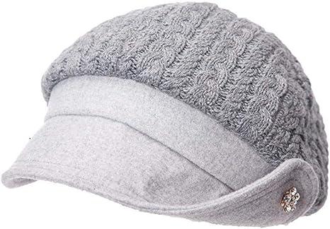 YanLong Boinas de Mezcla de algodón de Lana para Mujer Invierno ...